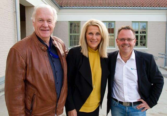 Industrigründer Bjørn Rotheim, fabrikksjef Monica Hagen ved Maarud AS og administrerende direktør Peter Didriksson i Blowtech AS delte sine spennende industrihistorier med de fremmøtte.