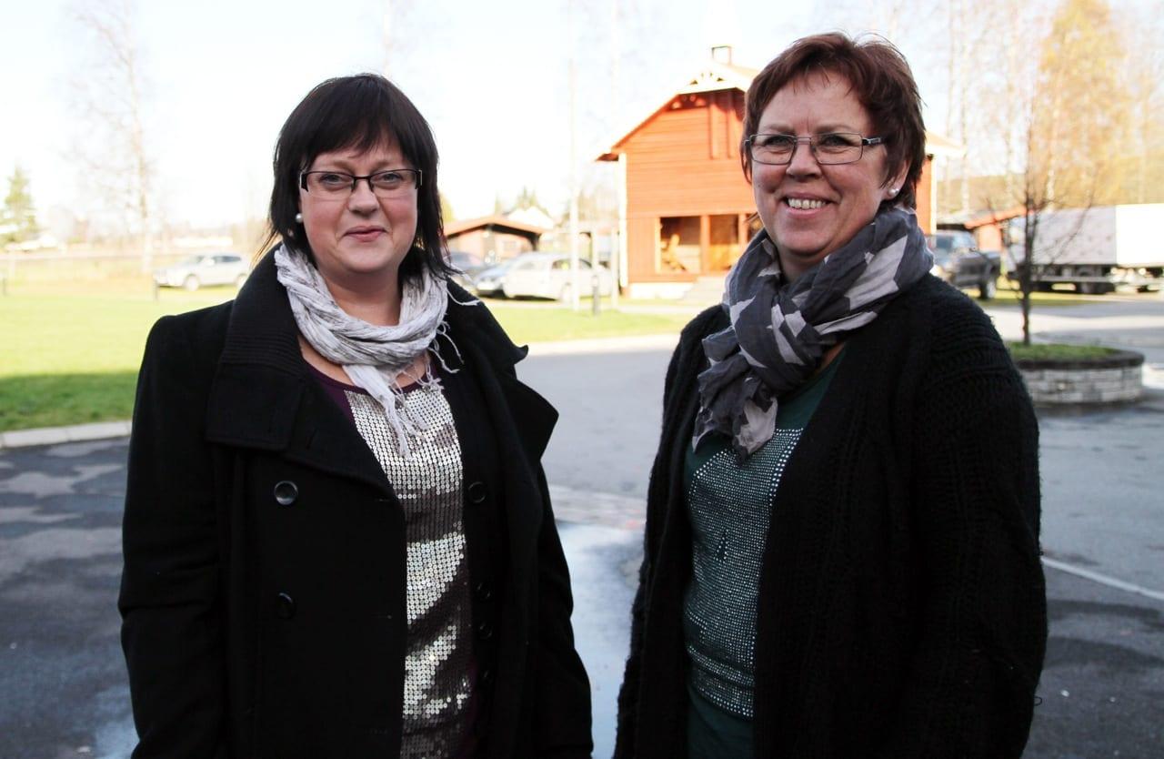 Anita Tomterstad og Wenche Trangsrud fra Glamox