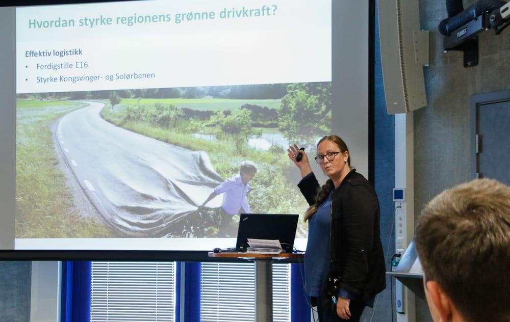 Lise Selnes, ordfører i Nord-Odal og leder av KS Hedmark, snakket om Kongsvingerregionen.